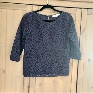 Loft Lace 3/4 Sleeve Top